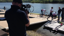 Filming GB Rowing Women's Double Scull