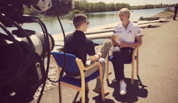 Josh interviews Vicky Thornley of the Women's Double Scull