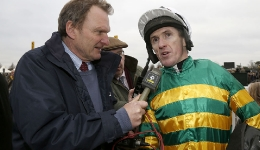 Tony McCoy after winning The Betfair Price Rush Chase his 200th winner of the season and retiring at the end of the seasonPic Dan Abraham-racingfotos.comNewbury 7.2.15